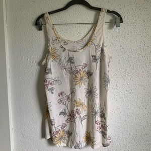 Maurices 24/7 Floral Tank Top M